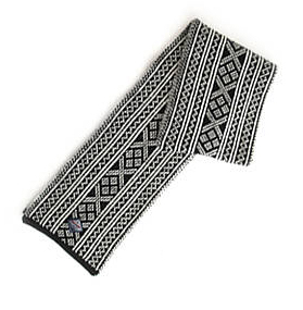 Setesdal Scarf - Charcoal & Off white