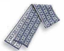 Borgund Scarf - Jeans blue & White