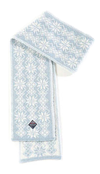 Ulvik Scarf - Light blue & White