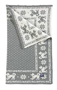 Dog's Blanket - Grey & White