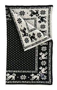 Dog's Blanket - Black & White