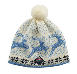Kautokeino Cap - Off white & Blue