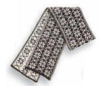 Borgund Scarf - Charcoal & Off white