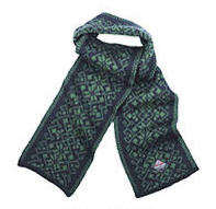 Hemsedal Scarf - Dark blue & Golf green
