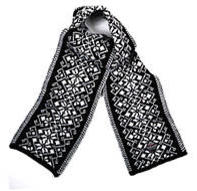 Hemsedal Scarf - Black & Off white