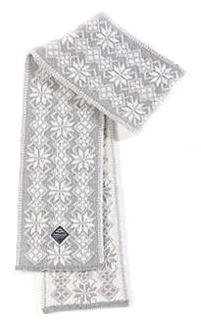 Ulvik Scarf - Light grey & White