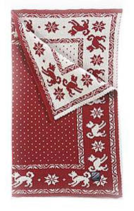 Dog's Blanket - Red & White
