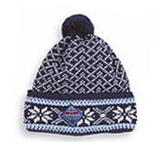 Borgund Cap - Navy blue & White